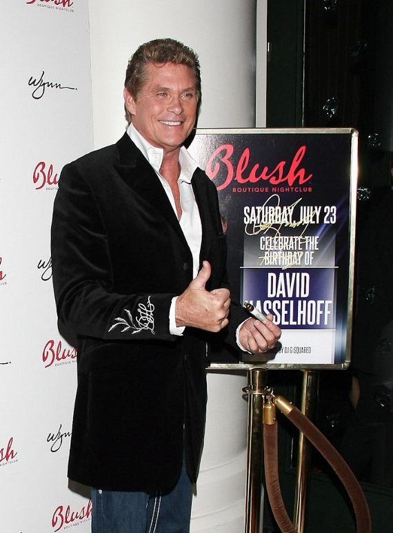 David Hasselhoff at Blush Boutique Nightclub