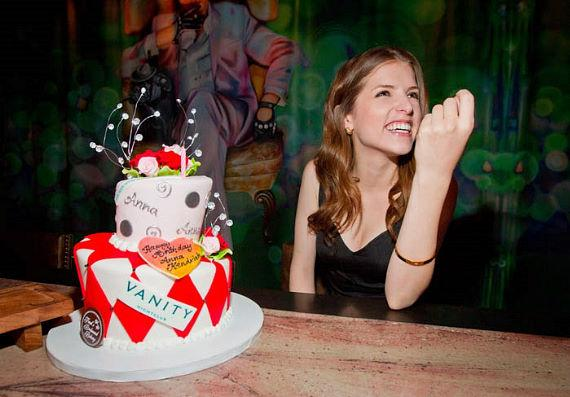Oscar Nominated Actress Anna Kendrick, best known for her roles in Twilight Series and the film 'Up In The Air', celebrated her birthday at Vanity Nightclub at Hard Rock Hotel
