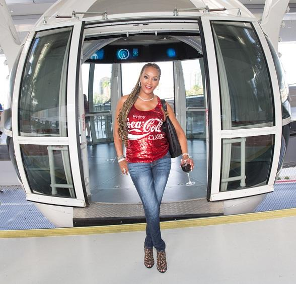 Vivica A. Fox Rides the High Roller at The LINQ in Las Vegas
