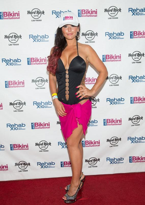 JWoww on red carpet at REHAB