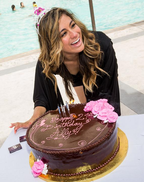 Fifth Harmony member Ally Brooke Hernandez celebrates 21st Birthday at Planet Hollywood Resort Pool in Las Vegas