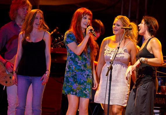 Jasmine Chadwick, A Fine Frenzy, Miranda Lambert and Sarah McLachlan performing the Patti Smith/Bruce Springsteen co-written hit song 'Because The Night'