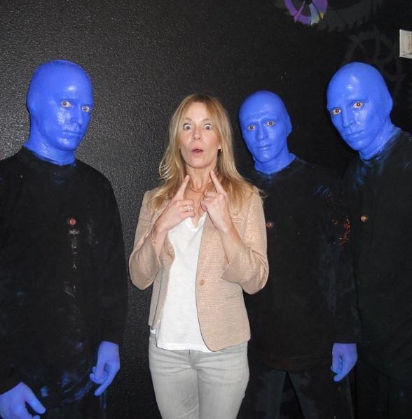 Véronic DiCaire Attends Blue Man Group at Monte Carlo Resort and Casino