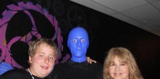 Pia Zadora Attends Blue Man Group at Monte Carlo Resort and Casino in Las Vegas