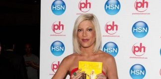Tori Spelling at HSN Live in Vegas at Planet Hollywood
