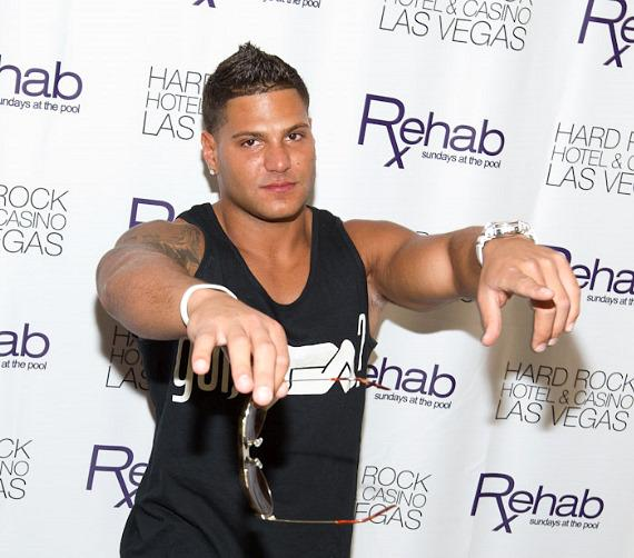 Ronnie Ortiz-Magro of Jersey Shore hosts at REHAB Pool Party