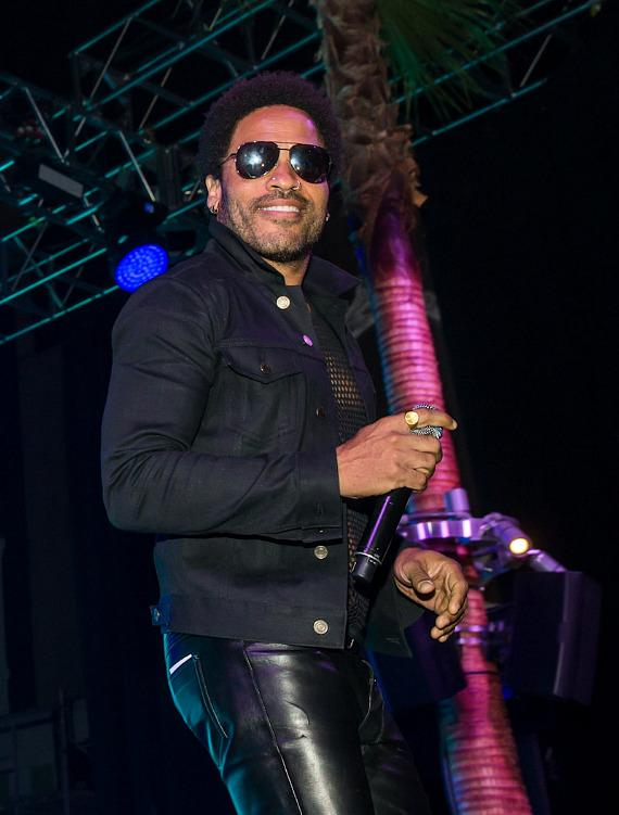 Lenny Kravitz performs at SLS Vegas grand opening