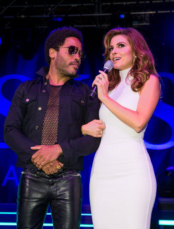 Lenny Kravitz and Maria Menounos at SLS Vegas grand opening