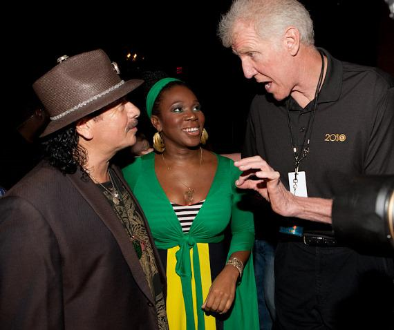 Carlos Santana, India.Arie and Bill Walton