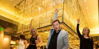 Travis Wall and Friends Perform Original Dance Number Inside Bacchanal Buffet at Caesars Palace