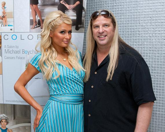Paris Hilton and Michael Boychuck at COLOR: A Salon at Caesars Palace