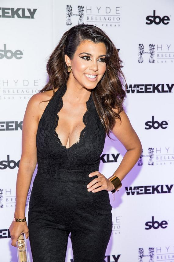 Kourtney Kardashian on the red carpet at HYDE Bellagio in Las Vegas