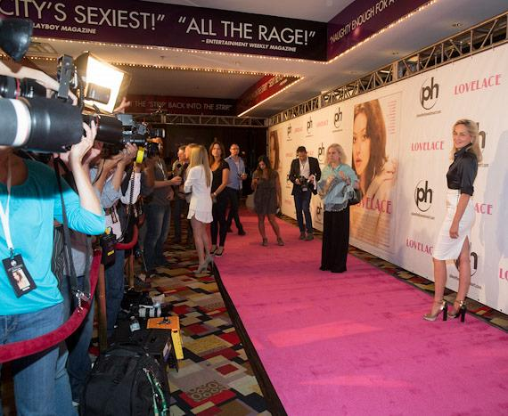 """Red carpet photographers at """"Lovelace"""" Premiere in Planet Hollywood Las Vegas"""