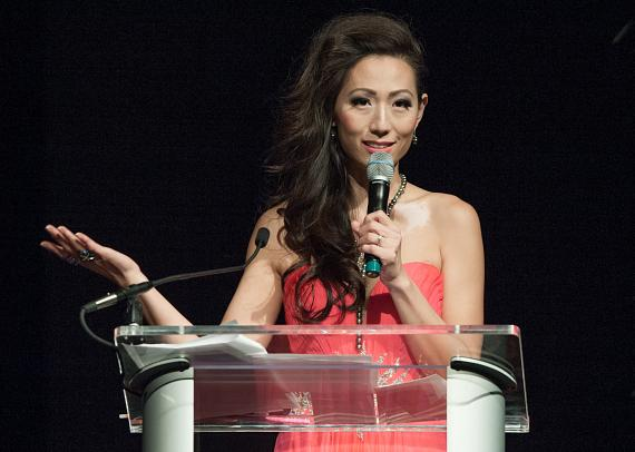 Miss Asian Las Vegas Founder Annie Chang Addresses the Crowd