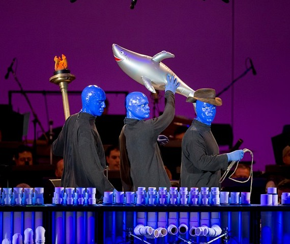 Blue Man Group performs at The Hollywood Bowl