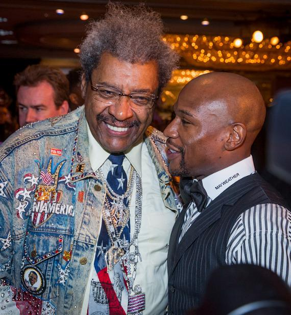 Don King and Floyd Mayweather Jr.