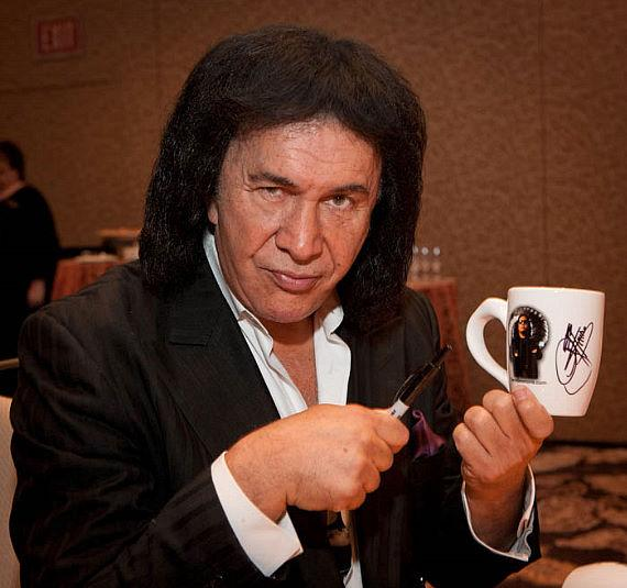 Gene Simmons stopped in Vegas to inspire employees at the annual Weldbend /IPD Breakfast at The Bellagio