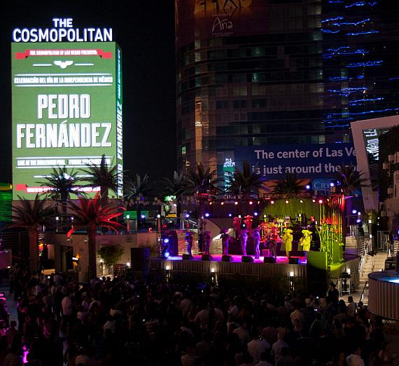 Pedro Fernández performs at The Boulevard Pool at The Cosmopolitan of Las Vegas