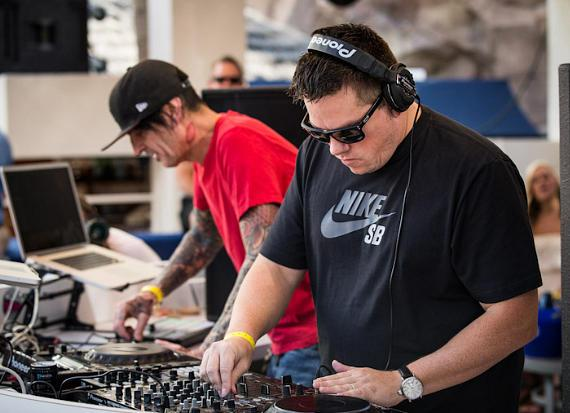 Tommy Lee and DJ Aero Spin at REHAB Pool Party