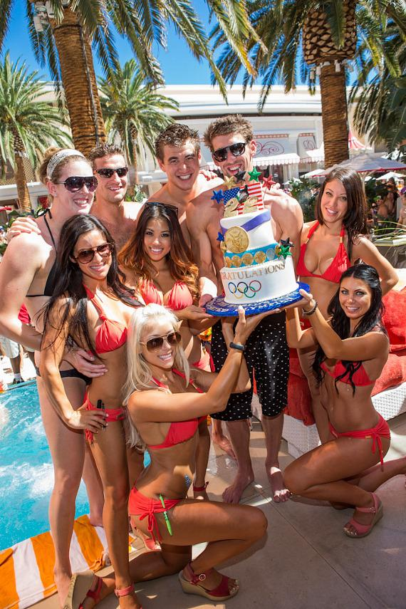 Michael Phelps retirement party at Encore Beach Club
