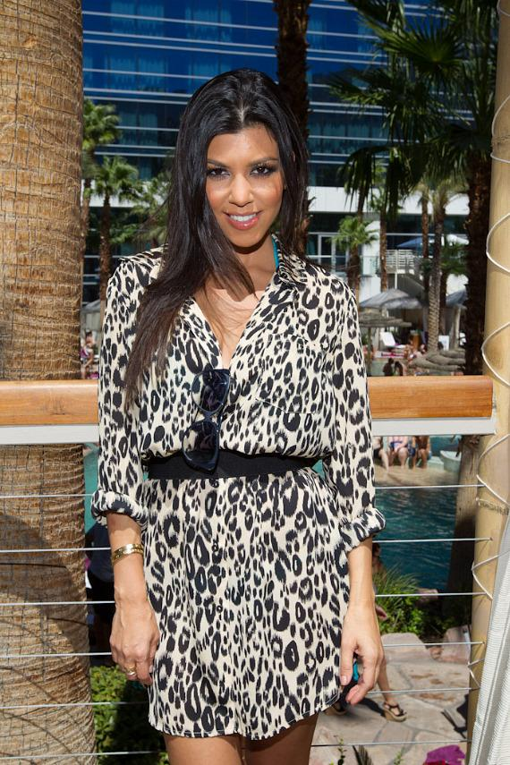 Kourtney Kardashian in her Cabana at HRH Beach Club