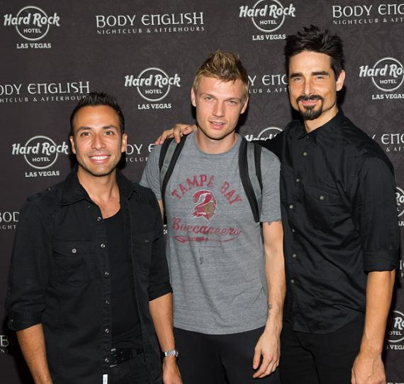 Howie Dorough, Nick Carter and Kevin Richardson at Backstreet Boys Official Concert After Party at Body English