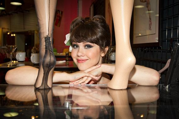 Claire Sinclair at Bettie Page Clothing in The Forum Shops at Caesars Palace in Las Vegas
