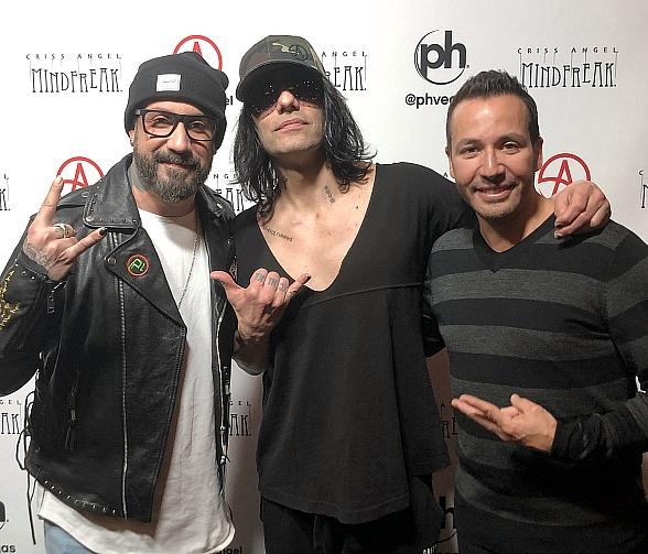 Viral Internet Sensation Trisha Paytas and Backstreet Boys, AJ McLean and Howie Dorough, See Criss Angel's MINDFREAK at Planet Hollywood Las Vegas