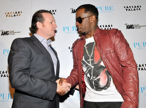 """AMG CEO Neil Moffitt with Sean """"Diddy"""" Combs at PURE"""