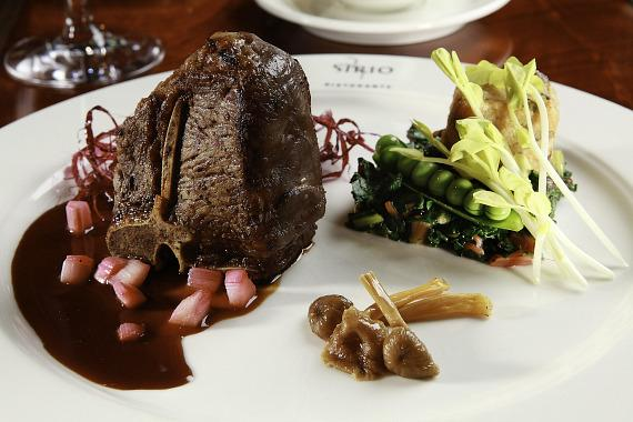 ARIA: Jean Georges Steakhouse - Steak and Broccoli
