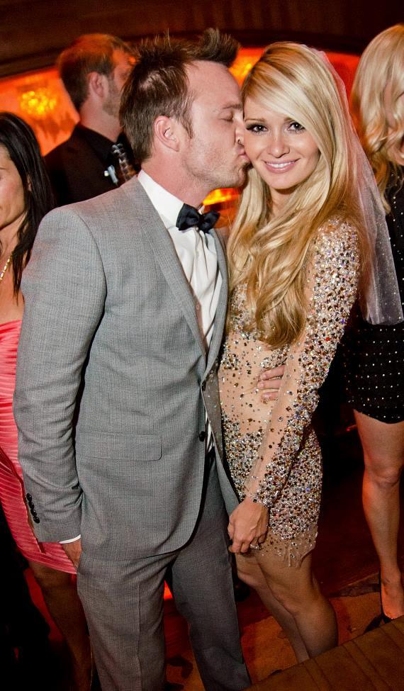 Aaron Paul and Lauren Parsekian at Marquee
