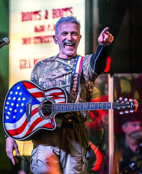 Aaron Tippin performs during 32nd Annual Downtown Hoedown at Fremont Street Experience