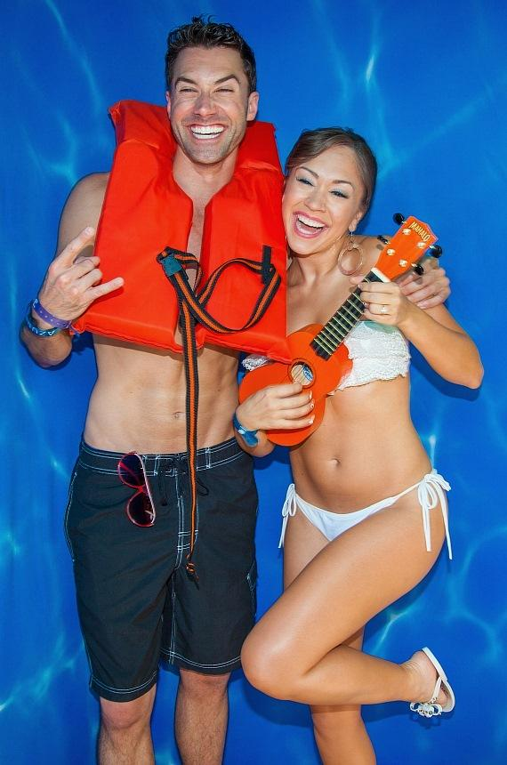 American Idol's Diana DeGarmo and Ace Young Celebrate at Azure Luxury Pool at The Palazzo Las Vegas