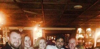 Actor Adrian Grenier Parties at Rí Rá Irish Pub in Las Vegas
