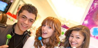 Adam Irigoyen, Bella Thorne and Zendaya at Sugar Factory