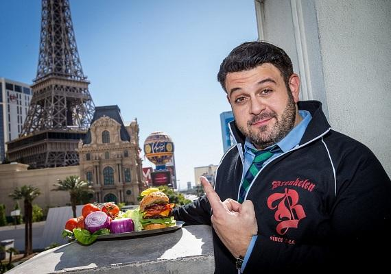 Adam Richman in front of Paris Las Vegas, home of the WFC Champions Reception that takes place Thursday, Nov. 1.