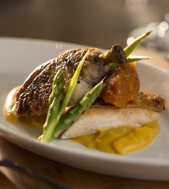 Airline Chicken Breast at La Cave Wine and Food Hideaway