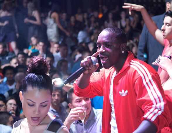 Akon performs at Gallery Nightclub at Planet Hollywood