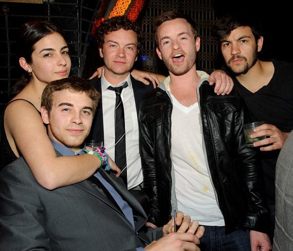 Alanna, Will, Danny, Chris and Jordan Masterson celebrate Danny Masterson's birthday at LAVO