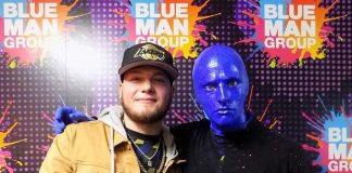 Alex Verdugo of Los Angeles Dodgers Attends Blue Man Group Las Vegas
