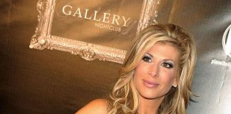 Alexis Bellino on red carpet at Gallery