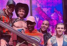 """Alexis Mateo, Coco and Kahanna Montrese Attend """"Atomic Saloon Show"""" at the Grand Canal Shoppes inside The Venetian Resort"""