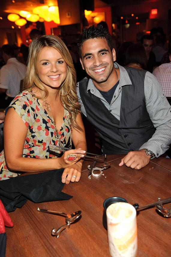 Roberto Martinez and Ali Fedotowsky at TAO