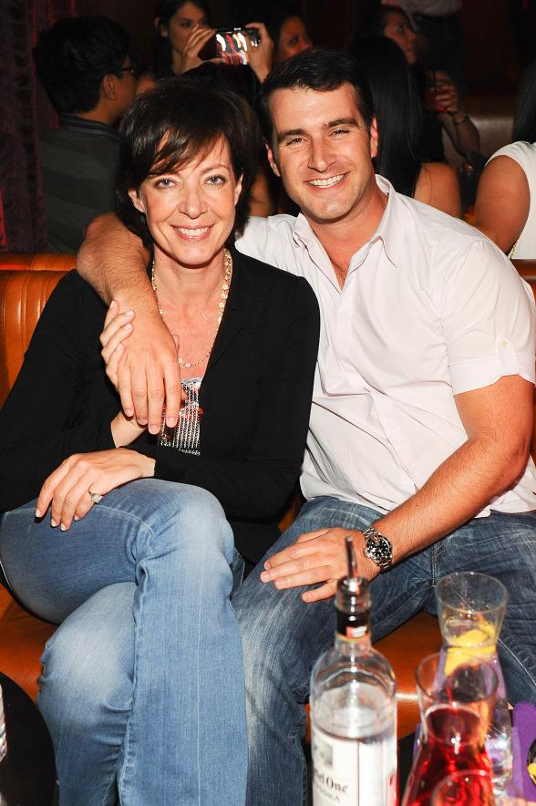 Allison Janney and friend at Marquee Las Vegas