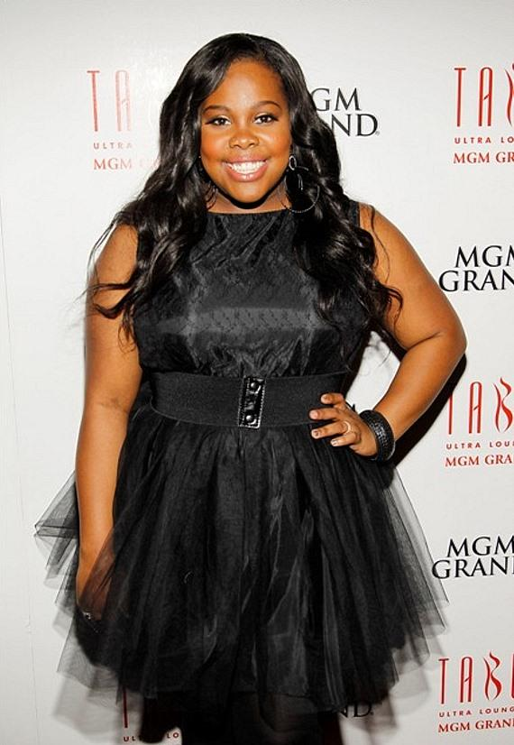 Amber Riley with Cake in Tabú Ultra Lounge