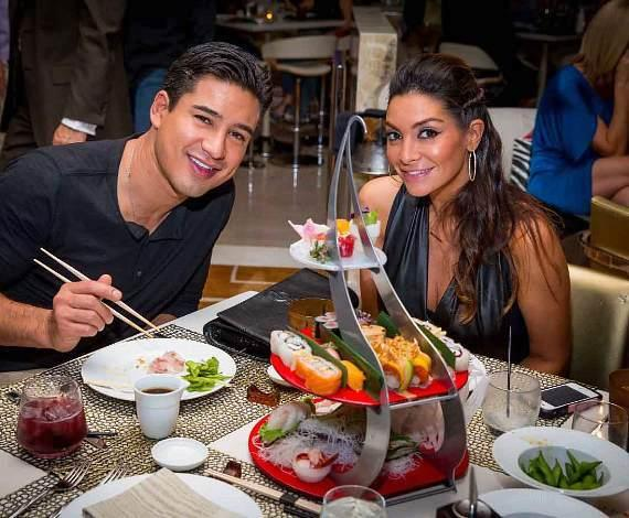 Mario Lopez and Courtney Mazza Lopez at Andreas