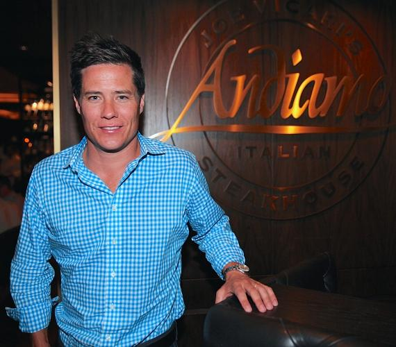 "Andrew Firestone from ""The Bachelor"" dines at Andiamo Italian Steakhouse at the D Las Vegas"