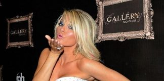 Angel Porrino on the red carpet at Gallery Nightclub