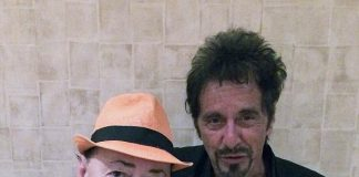 """Former """"Scarface"""" Stars Al Pacino and Angel Salazar Meet at The Mirage in Las Vegas"""