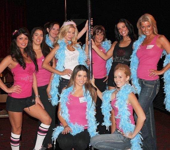Angela Marcello, Laura Croft and Tracey from Fantasy at Night School 4 Girls at Excalibur Hotel & Casino